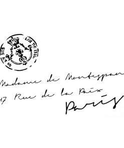 French Address with Stamp - Artisan Enhancements
