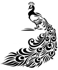 Peacock Stencil - Artisan Enhancements